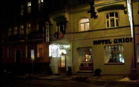 Hotel Union Prague: Юнион ночью