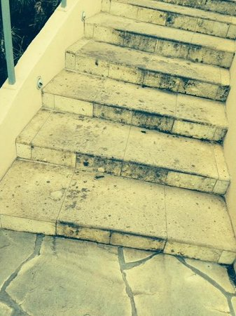 The Ritz-Carlton, Kapalua: Stairs that have never been cleaned