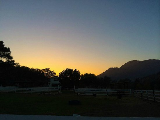 Lazy J Ranch-Americas Best Value Inn: sunset