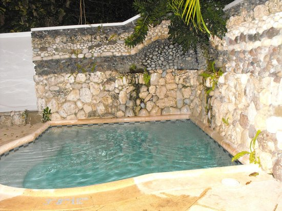 Couples Tower Isle: PRIVATE POOL WITH WATER COMING OUT OF SEACHELL
