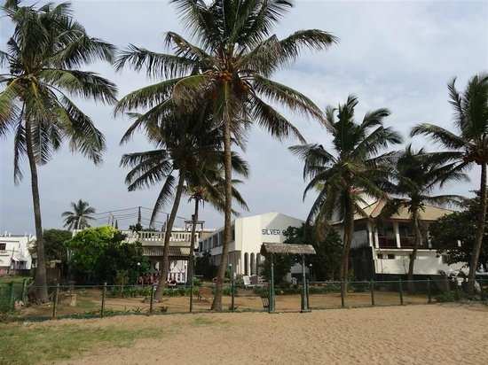 Hotel Silver Sands: A view from the beach.