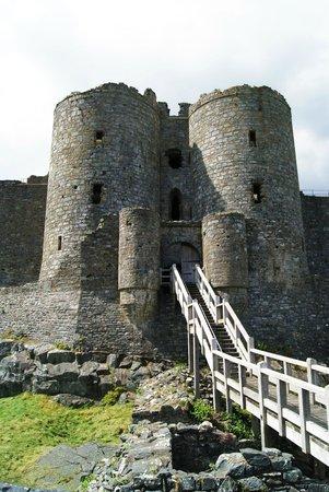 Harlech Castle: Eingang
