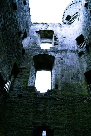 Harlech Castle: Innenansicht Torhaus