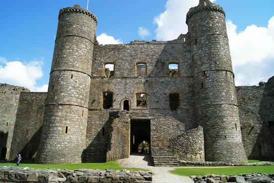 Harlech Castle: Wohn- und Torhaus