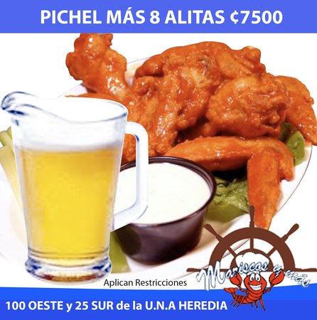Mariscos y más: Pichel + 8 Alitas 7500