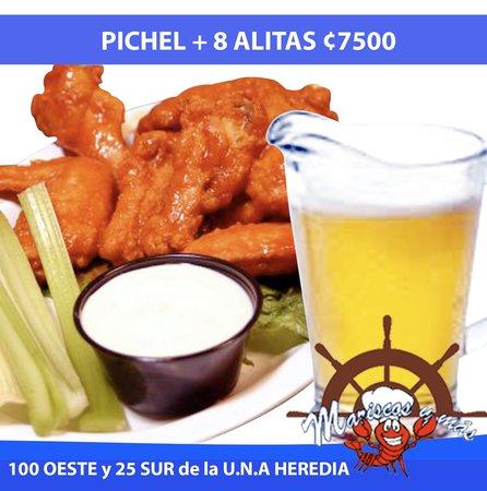 Mariscos y más: Pichel + 8 Alitas c 7500