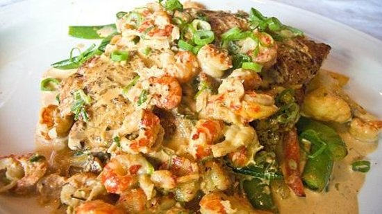 Blackened redfish topped with crawfish picture of dixie for Dixie fish company
