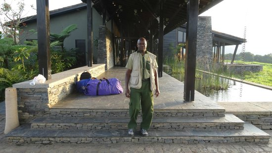 Nyungwe Forest Lodge: The author at the arrival/departure area!
