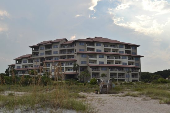 Villas of Amelia Island Plantation : A view of Sandcastles Villa from the beach