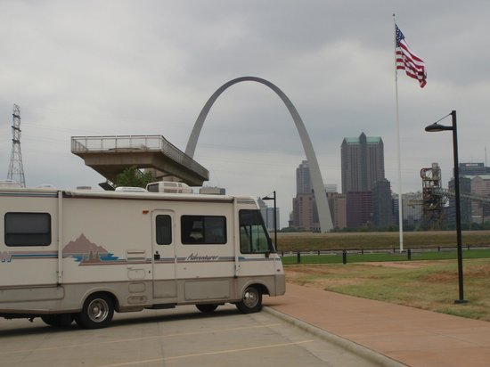 Malcolm W Martin Memorial Park: the arch viewing platform and our RV