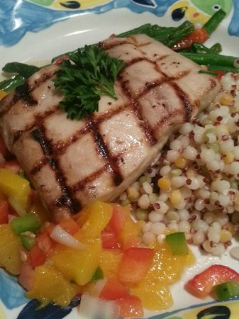 Maxines: Fresh Grouper with cous cous