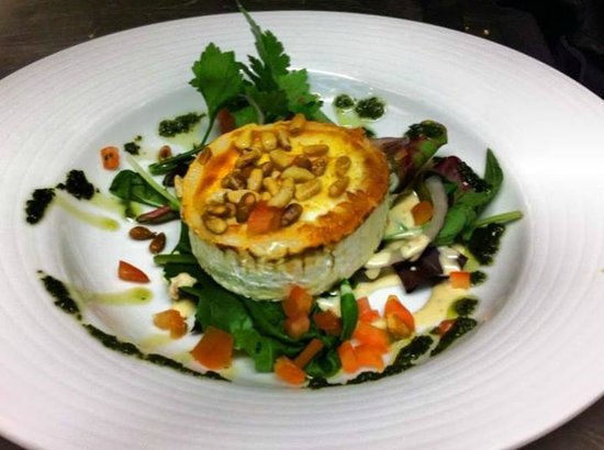 Cronins Restaurant : Warm Goats Cheese Salad topped with Pine Nuts! Made with the award winning St.Tola Organic Goats