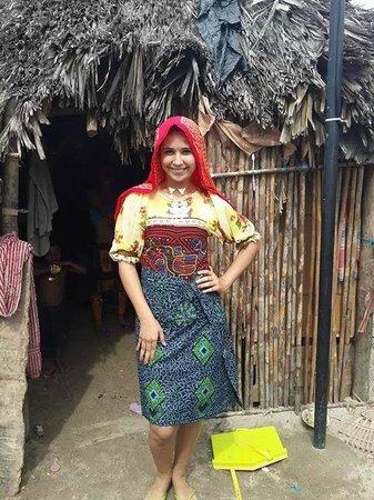 Foto De Islas San Blas Region De Guna Yala Mi Novia Con Vestimenta