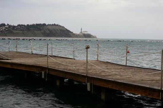 Svoboda Hotel: Piran dalla costa di Srumjan