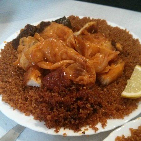 Baobab: Plato vegetariano de cuscús y verduras