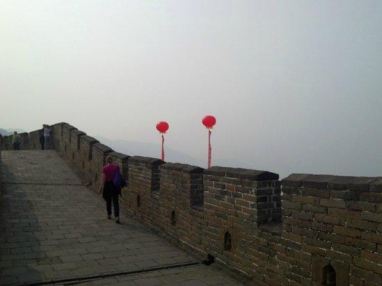Gran Muralla China en Mutianyu: red balloons