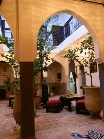 Riad Chafia : cour intérieure