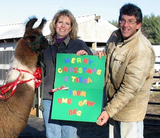 Dakota Ridge Farm : A birthday present!  Katrina, Gary, and A Whist-O-Kat