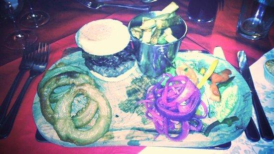 The Boars Head: Minted Lamb Burger