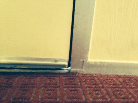 Rosen Inn International : Nice crack under the door for the lizards in the stairwells to enter my room.