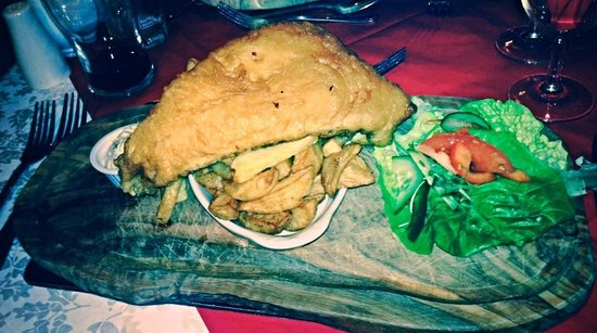 The Boars Head: Haddock and Chips