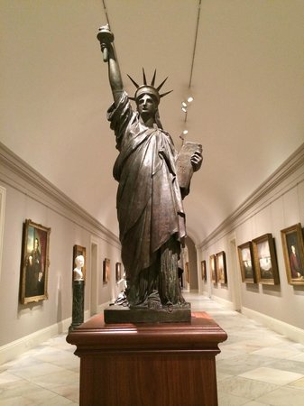 National Portrait Gallery : Skulptur der Freiheitsstatue