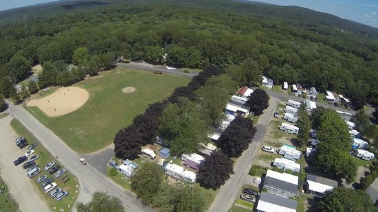 Strawberry Park Resort: aerial view of baseball field