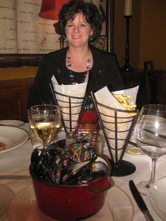 Mussels and Belgian frits at the Pinot Brasserie, Las Vegas