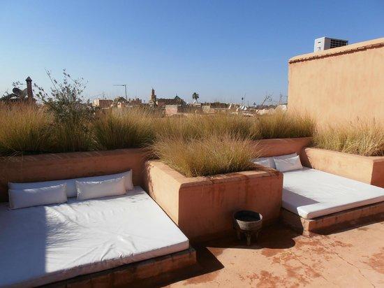 Zaouia 44: la térrasse du toit