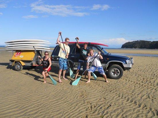 Abel Tasman Paddleboarding: The Happy Crew