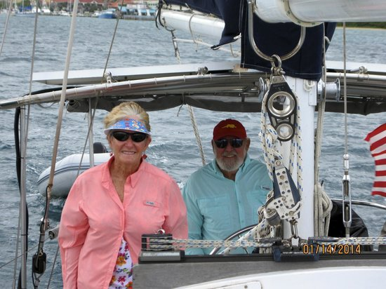 Alaunt Charters day sails: Our Hosts Ron and Carol
