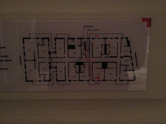 The Dean Hotel: Floorplan