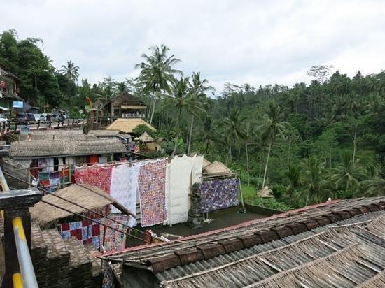 Tegalalang Rice Terrace : shops n cafes..