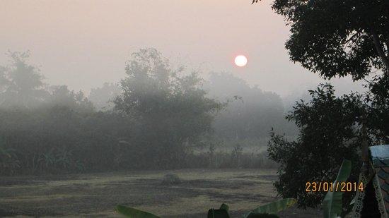 Lanna Saithong Resort: Vue le matin depuis la chambre orchid