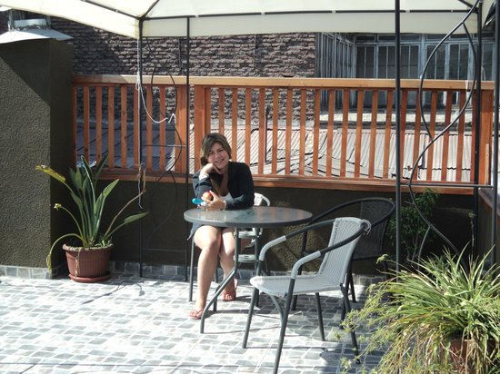 Casa Mosaico Hostel: La terraza