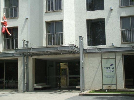 Tierra Mora Hotel Boutique & Apartments: Puerta de ingreso