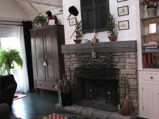 Scottwood Bed and Breakfast : The inviting and much used fireplace