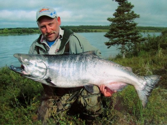 Morrison Guide Service: Mike morrison with a 55 pound king salmon