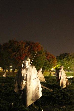 Monumento a los veteranos de la Guerra de Korea: Out of the dark