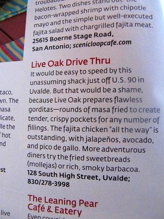 Live Oak Drive Thru: Southern Living Review