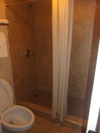 Plantation Inn: Salle de bain de la chambre 204 au 20 janvier 2014.