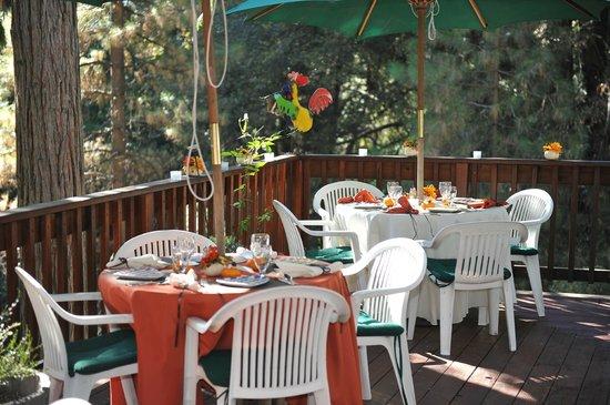 McCaffrey House Bed and Breakfast Inn : Outdoor sit down wedding dinner. It was wonderful!