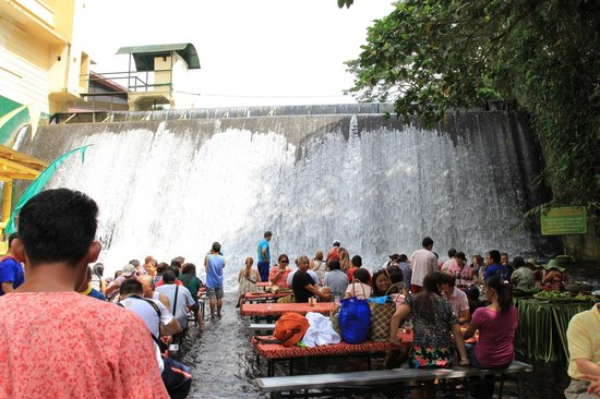 Picnic Tables At The Bottom Of The Waterfalls Picture Of