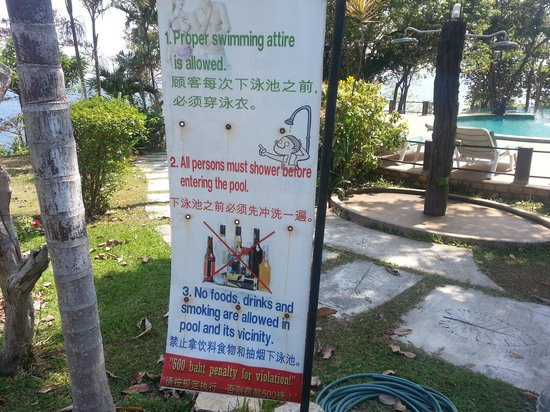 Ban Raya Resort & Spa: Rules and fines