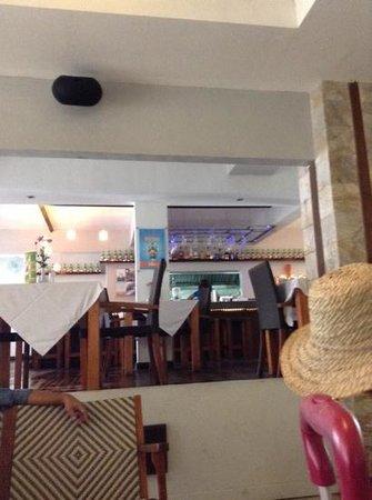 Sandbar: view from maharani beach hotel, where we got breakfast here, the banana pancake is awesome