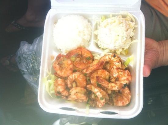 Geste Shrimp Truck: lemon pepper shrimp --  extremely fresh and well prepared