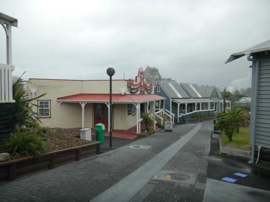 Whakarewarewa - The Living Maori Village: Shops in main walkway