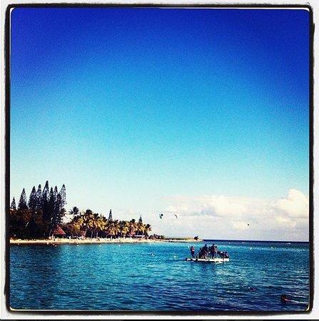 Le Meridien Noumea: Hotel beach area