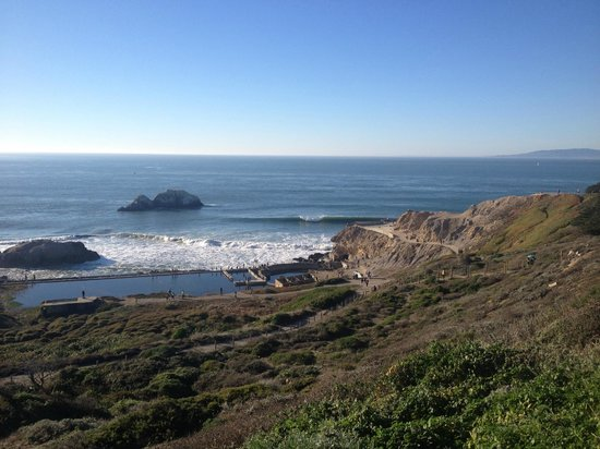 """Lands End: You can ALMOST see the """"cave"""" on the far right."""