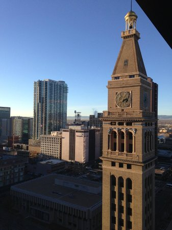 The Westin Denver Downtown: view from the room on 19th floor facing the clock tower